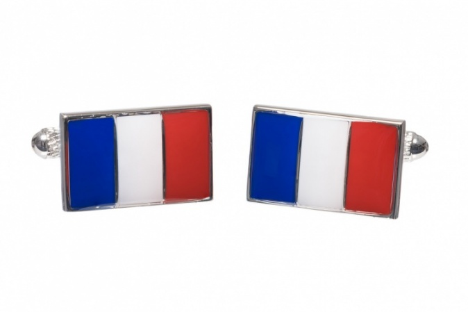 French Flag Cufflinks
